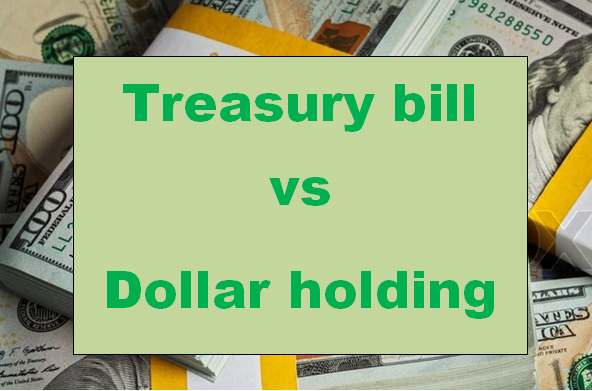 Treasury Bill Versus Dollar Holding